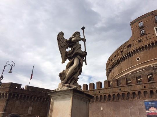 Roma. Underveis medselfiestang