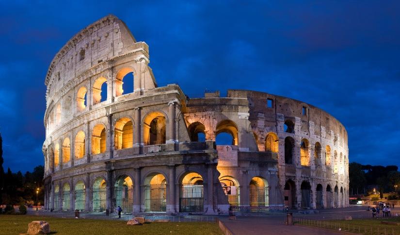 Roma.  Kastet tilløvene